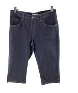 "Lee Riders Women 35"" Waist Capris Mid Rise Dark Blue Zipper Straight Leg - $14.01"