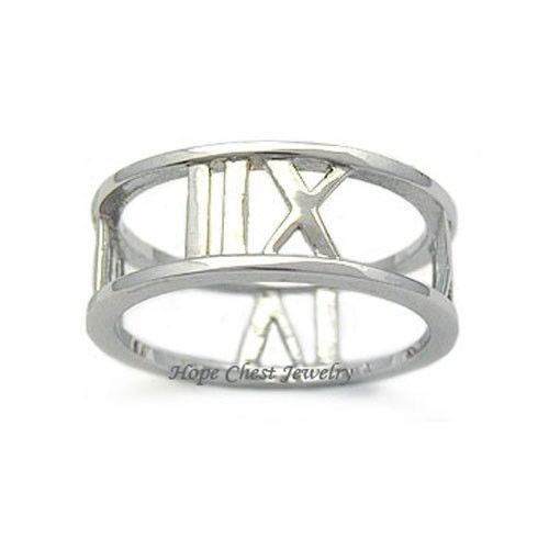 Sterling Silver Designer Inspired Band Ring - SIZE 9 (LAST 1)