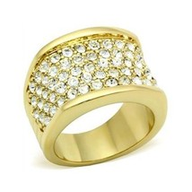 Gold Tone Gorgeous Cubic Zirconia Right Hand Band Ring - SIZE 5 (LAST ONE) image 1