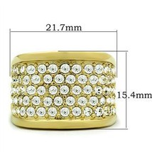 Gold Tone Gorgeous Cubic Zirconia Right Hand Band Ring - SIZE 5 (LAST ONE) image 2