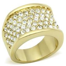 Gold Tone Gorgeous Cubic Zirconia Right Hand Band Ring - SIZE 5 (LAST ONE) image 3