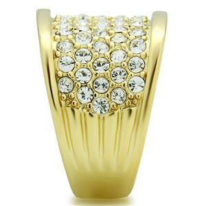 Gold Tone Gorgeous Cubic Zirconia Right Hand Band Ring - SIZE 5 (LAST ONE) image 4