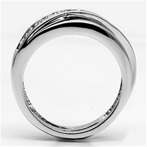 Silver Tone Journey Channel Setting Cubic Zirconia Band Ring - SIZE 5 TO 9 image 4