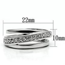Silver Tone Journey Channel Setting Cubic Zirconia Band Ring - SIZE 5 TO 9 image 5