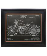 Harley Davidson Framed 16x20 Motorcycle Chalk Patent - $138.59