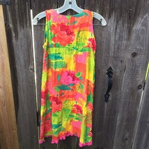 Jams World Lil People Girls Dress Sleeveless Hawaiian Summer Sz L - $22.30