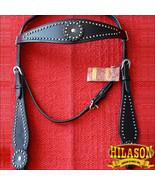 Hilason Western Horse Headstall Bridle American Leather Black U-K-HS - $63.31