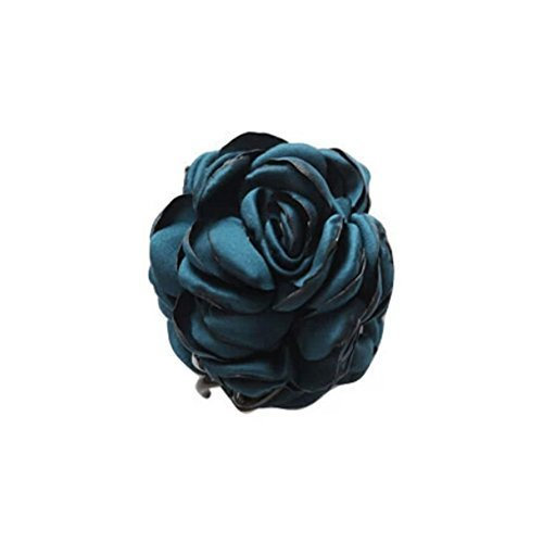 Fashion Verisimilitude ROSE Jaw Clip Hair Styling Claws, 3.1 inches, BLUE GREEN