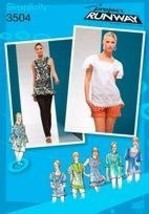 Simplicity Pattern 3504 Project Runway Misses' Top With Neckline And Sleeve Vari - $12.82