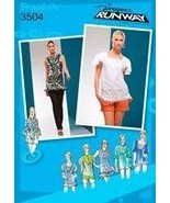 SIMPLICITY PATTERN 3504 PROJECT RUNWAY MISSES' TOP WITH NECKLINE AND SLE... - $12.82