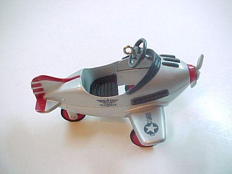 Hallmark 1996 Kiddie Car Classics Murray Airplane Ornament -Die Cast Metal -QX53