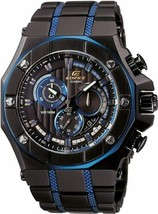 Casio General Edifice Gold Label Black Ion Plated Men's Watch EFX-510BL-... - $197.99