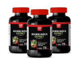 naturally relieve stress - ASHWAGANDHA COMPLEX 770MG - natural adaptogen 3B - $33.62