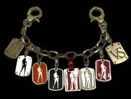 Vintage Victoria's Secret Everything I want Charm Bracelet Gold Tone 8 charms - $47.51