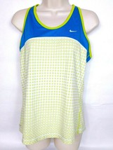 Nike Women's Dri-Fit Tank Top Large Blue Green White Geometric Athletic - $15.20