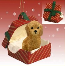 GOLDENDOODLE DOG CHRISTMAS GIFT BOX ORNAMENT HOLIDAY Present - $14.95