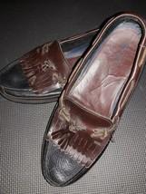 Chaps Mens Brown Leather 096-271r4 Carson Tassel Kiltie Loafers Shoe Siz... - $18.79