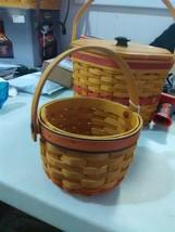 Longaberger Swing Handle Little Pumpkin Basket - 1997 - $16.51