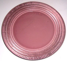 "Forte Crisa Wine Color Collectible Large 9 1/4"" Dinner Plate Checkered D... - $11.99"