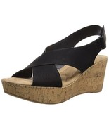 Cl By Chinese Laundry Women's Dream Girl Wedge Pump Sandal, Black Nubuck... - $26.33