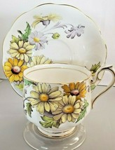 Royal Albert Flower of April Daisy Bone China Footed Tea Cup & Saucer - $46.75