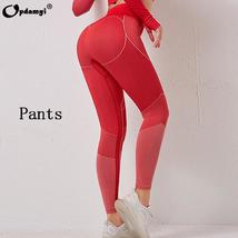 Women's 2 Piece  Sexy High Waist Leggings and Crop Tops Active Yoga Suit image 6