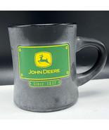 JOHN DEERE COFFEE MUG CUP RUSS green black tractor since 1837 plate deer... - $17.82