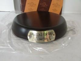 EMMETT KELLY JR CLOWN FIGURINE BALLOONS FOR SALE WOOD DISPLAY BASE  - $6.88