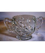 Indiana Glass Willow Clear Open Sugar Bowl Line 1008 - $5.03