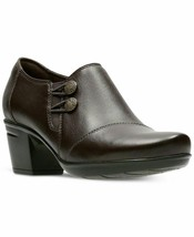 New Clarks Comfort Brown Leather Shooties Pumps Size 8 Size 8.5 M $89 - $42.99+