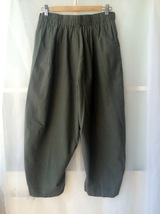 Summer Cotton Linen Pants Women Army Green Linen Wide Leg Pants Cozy Casual Pant image 3