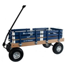 HEAVY DUTY LOADMASTER BLUE WAGON - Beach Garden Utility Cart AMISH MADE ... - $287.07