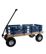 HEAVY DUTY LOADMASTER BLUE WAGON - Beach Garden Utility Cart AMISH MADE ... - $330.18