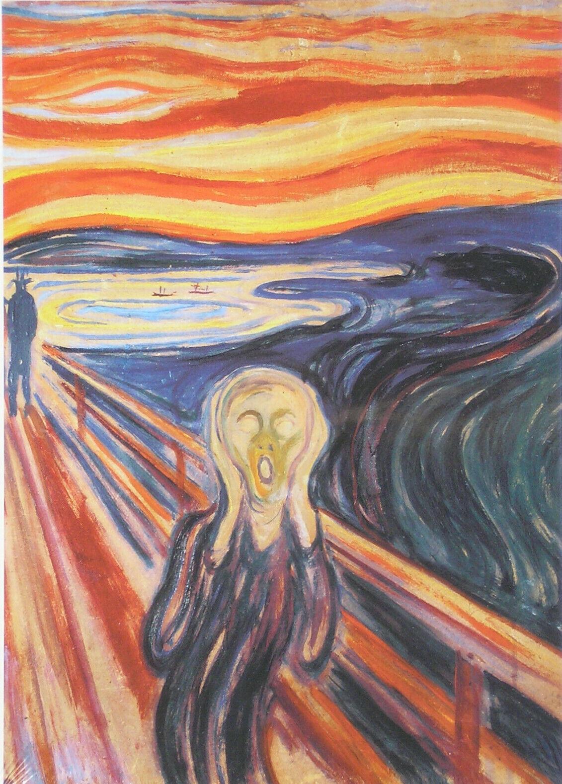 Piatnik Edvard Munch The Scream 1910 1000 pc Jigsaw Puzzle Expressionism Art - $17.81