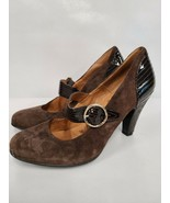 Sofft Womens Mary Jane Pumps Size 10 Brown Leather Upper Heels Suede Hig... - $30.99