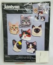 1997 Janlynn Needlework Cross Stitch Cats Magnets NIP Arts Crafts Kits K... - $26.17