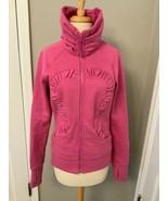 Lululemon CUDDLE UP Jacket In Heathered Paris Pink Sparkle Size 6 - $18.69