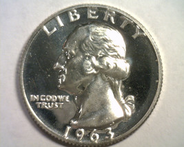 1963 WASHINGTON QUARTER GEM PROOF CAMEO GEM PR CAM NICE ORIGINAL COIN BO... - $17.00