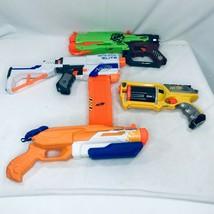 Nerf Guns Lot of 4 Super Soaker Zombie Strike N Strike Retaliator Maveri... - $56.89