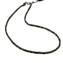 925 Silberne Halskette Brüniert mit Hämatit Satinlack Made in Italy By Maschia image 1