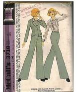 3718 Non Tagliati Vintage Mccalls Cartamodello Misses Giacca Pantaloni B... - $5.52