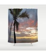 Shower curtains Bathroom Decor Photo 12 Sea Ocean Sunset Beach by L.Dumas - $69.99