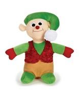 Singing Holiday Stuffed Jolly Christmas Elf Toy Plays Jingle Bells Xmas ... - $16.72