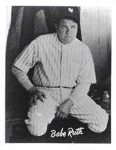 Babe Ruth 8X10 Photo New York Yankees Ny Baseball Close Up In Dugout - $3.95