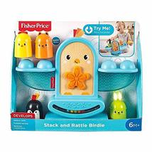 Fisher-Price Stack and Rattle Birdie, Baby Rattle and Stacking Toy - $32.80