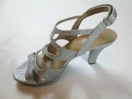 Naturalizer Womens Dianna Open Toe Casual Strappy Sandals Silver Size 8M #1X - $31.96
