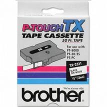 "Brother OEM TX2311 Black on White Tape (1/2"") - $36.23"