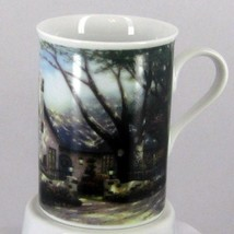 Thomas Kinkade Vintage Morning Glory Cottage Coffee Cup/Mug Porcelain Euc Rare - $30.66