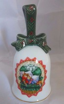 Vintage Avon 1990 Waiting For Santa Porcelain Christmas Bell - $8.59