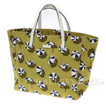 GUCCI Tote Bag Canvas Leather Green White 282439 Parasols Authentic 5365647 - $401.52